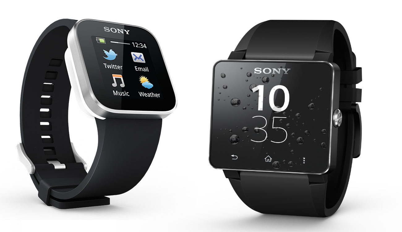 Here's the predecessors of the SmartWatch 3 - the SmartWatch 1, left, and the SmartWatch 2.